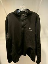 MERCEDES BENZ Black Pullover Sweater Fleece Lined Sz MEDIUM M