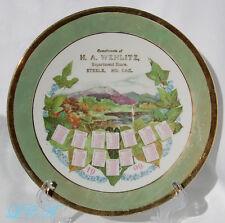Rare STEELE NORTH DAKOTA antique 1909 calendar plate H. A. WEHLITZ Dept Store