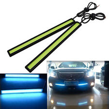 1x Blue Car COB LED Lights Anti Fog Driving Lamp Waterproof DC 12V Daytime Light