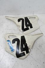 VINTAGE POLINI SIDE COVER NUMBER PLATE SET PAIR LEFT RIGHT MX 50 65