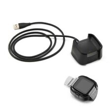 USB Data Cable Charging Cradle Dock Base Desktop Charger For Fitbit Versa Watch