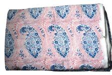 Pink Paisley Print Fabric Hand Made Beautiful Fabric Hand Block Print Fabric New