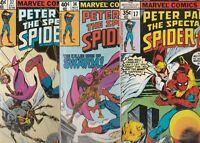 SPECTACULAR SPIDERMAN  9 COMIC LOT  FINE TO  NM PETER PARKER BLACK CAT