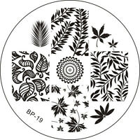 BORN PRETTY Leaves Theme Nail Art Stamping Stamp Template Image Plate BP19