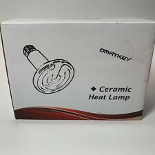 Omaykey 150W 2 Pack Ceramic Heat Lamp Bulb Infrared Reptile Heat Emitter Heater