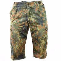 Original German army shorts combat field flecktarn camo bermuda
