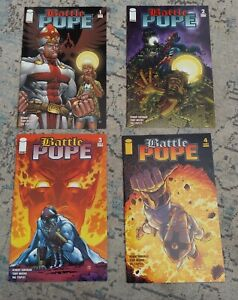 Battle Pope #1 - #4  Robert Kirkman Image Comics LOT