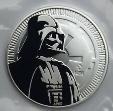 Star Wars Dark Vador 2017 pièce 31,1g argent 999 Nouvelle Zélande 2 dollars