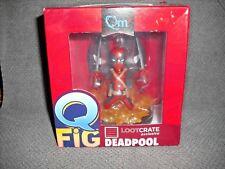 NEW  Q-Fig Q-Pop Figure DEADPOOL (RED) loot Crate Exclusive Marvel POP Unopened