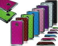 NEW CHROME PHONE DIAMOND HARD BACK CASE COVER FOR HTC ONE MINI M4 601e