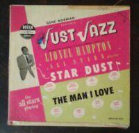 """1951 JUST JAZZ Lionel Hampton All Stars 10"""" LP Decca VG"""