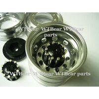 1/14 RC car option metal rear wheel parts for tamiya truck man scania x 2 black