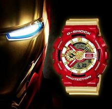 Casio G Shock Ironman GA 110 CS Rojo y Oro Reloj Super Héroe Niños Regalo de Navidad
