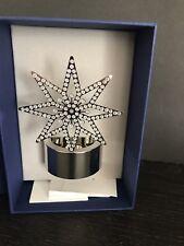 Swarovski Crystal Tea Light Silver Star Candle Holder 5030477