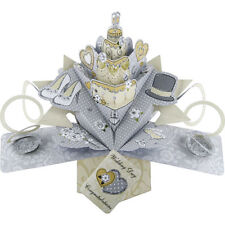 3D  Pop Up Greeting Card by Second Nature - WEDDING CAKE - SN-POP-116