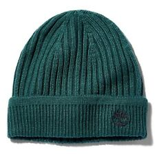 TIMBERLAND RIBBED KNIT BEANIE FOR MEN GREEN