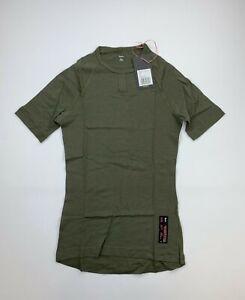 RAPHA Merino Short Sleeve Olive Green Base Layer Size Men's Small New