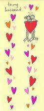 Paper Rose 3.5 x 8.5 To My Husband... Valentine Card Richard Barrett