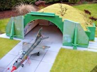 Aircraft Shelter 1:144 scale   Warsaw Pact Shelter Model Kit   (LASERCUT PARTS)