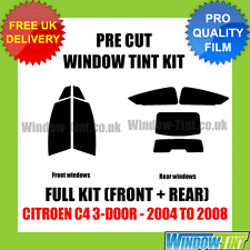 CITROEN C4 3-DOOR 2004-2008 FULL PRE CUT WINDOW TINT