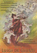 W7620 Caramelle Giusti - Illustrazione a colori - Pubblicità del 1920 - Old ad