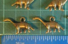 10 x Tibétain Argent Dinosaure Diplodocus brontosaure 3D charms pendentifs perles