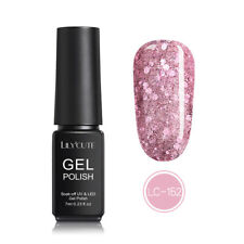 LILYCUTE 7ml Glitter UV Gel Nail Polish Soak Off Sequined Shiny Black Pink Gel