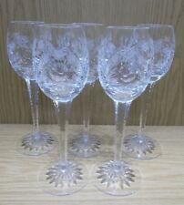5St (+1) hohe Süß-Wein Aperitiv Sherry Gläser Bleikristall geschliffen