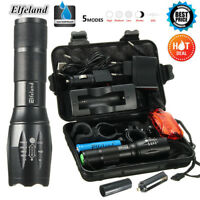 10000LM Elfeland T6 LED Tactical Flashlight Military Zoomable Torch 18650/AAA