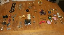 Mixed lot costume jewelry 55 pieces Earrings Bracelet Necklaces Brooches Pendant