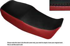 DARK RED & BLACK CUSTOM FITS SUZUKI GS 450 E DUAL LEATHER SEAT COVER ONLY