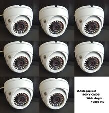 Set (8) HD-TVI 2.4MP 1080p HD  CMOS Outdoor IR Dome Security Cameras 3.6MM