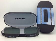 COCOONS Grey Polarized Sunglasses/Eyeglasses Over Rx Clip-on REC 1-52 Gunmetal