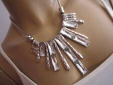 STRASS Collier Damen Hals Kette kurz Modekette Modeschmuck Silber Statement B779