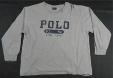 Rare VTG POLO RALPH LAUREN RL 96 Athletic Department Spell Out LS T Shirt 90s