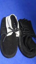 Minnetonka Women's Black Fringed Soft sole Suede Boots Size 6 489