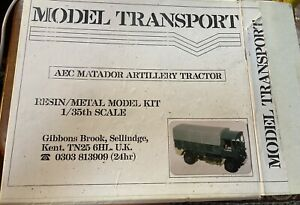 Model Transport Aec Matador Artillery Tractor 1/35 Resin/metal Kit