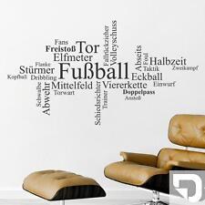 Wandtattoo Fußball Wortwolke: Tor, Elfmeter, Stürmer... von DESIGNSCAPE®