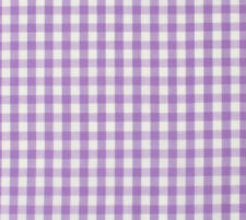 """Gingham Check Batiste Fabric Polyester Cotton Purple White 1/8"""" By The Half Yard"""