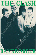 The Clash Postcard Photo Bankrobber Portrait Original Issue Collectable 4x6