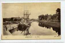 (Gn264-175) Tall Ship at ABBEVILLE, France c1910 Unused VG