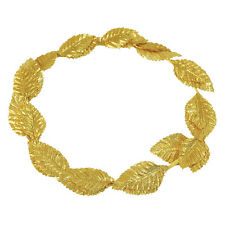 Fancy Dress Roman Julius Caesar Laurel Gold Leaf Crown Headdress-A321