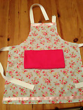 Personalised Childrens Apron (Shabby Chic Style) Flowers & Ribbon