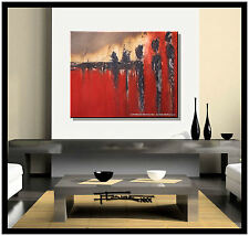 ABSTRACT PAINTING  CANVAS WALL ART Listed by Artist 30in signed US ELOISExxx