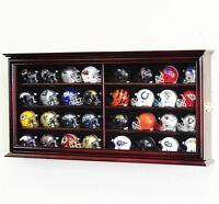 32 Pocket Pro Mini Helmet Display Case Cabinet w/32 NFL Mini Helmets INCLUDED!!