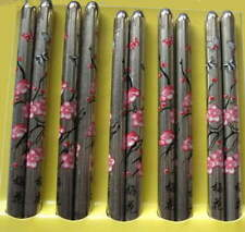 "9""  STAINLESS STEEL Chopsticks HAIR STICKS Silver Pick Pink Blue Red Black"