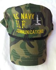 U.S. Navy Elf Communication Camouflage Snapback Hat Military Project Camo Cap