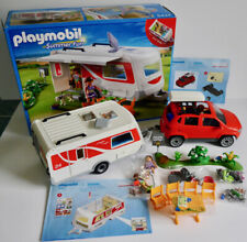 PLAYMOBIL SUMMER FUN 5434 FAMILY CARAVAN PLAYSET & FAMILY SUV CAR 5436 *COMPLETE
