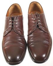 Salvatore Ferragamo Men's 10 D Brown leather Captoe Derby Lace Up Oxfords   #110