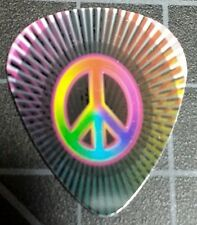 SUPER PSYCHEDELIC PEACE SIGN  GUITAR PICK